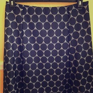 NWT Renee C Navy Lace Skirt Size XXL